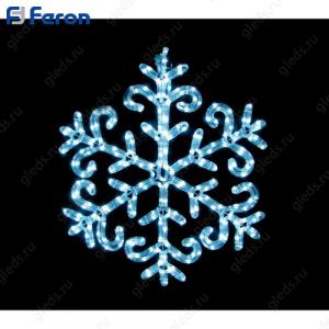 "Световая фигура ""снежинка"", 10м LED белый, 24 LED/1м, 60*60см LT003"