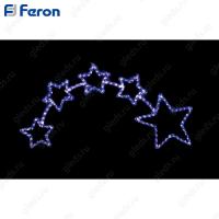 """Световая фигура """"звездопад"""", 14м LED белый+синий, 24 LED/1м, 73*153см LT010"""
