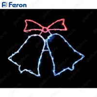 """Световая фигура """"колокольчики"""" красный+белый+синий, 60 LED, 59*46см LT013"""
