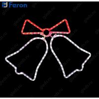 """Световая фигура """"колокольчики"""", 3м LED белый + красный,, 24 LED/1м, 63*50 см LT014"""