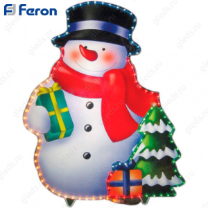 """Световая фигура """"снеговик"""", 3м """"рис"""" лапмы мульти, 36 ламп/1м, 79*62см LT017"""