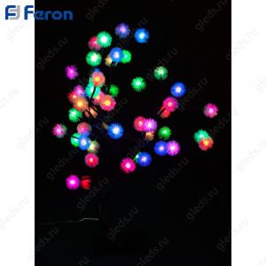 """Световая фигура """"дерево"""", 48 LED зелено-красный + сине-красный, 53*45см LT020"""