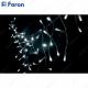 "Гирлянда ""дождь"", 70 LED белый, 1,4м *0.4м +1.4м прозрачный шнур CL14"