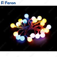"Гирлянда ""шарики на присоске"", 20 LED мульти, батарейки 3*АА, 2м + 0.5м CL555"