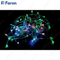 Гирлянда линейная, 20 LED мульти, 2м +1.5м прозрачный шнур CL02