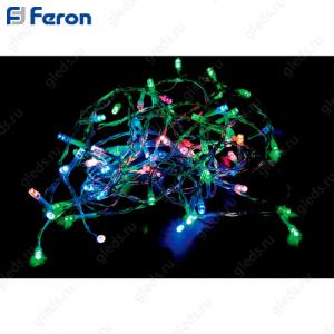 Гирлянда линейная, 100 LED мульти, 9,4м + 1.4м прозрачный шнур CL05