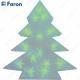 """Световая фигура """"ёлка 3D"""", 15 LED зеленый, батарейки 2*АА, 34х8х42см LT028"""