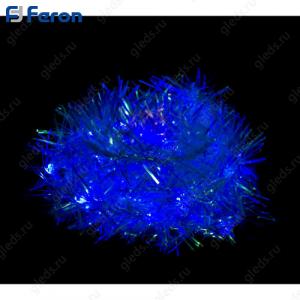 "Гирлянда ""мишура"", 100 LED синий, 6,1 м + 4,3м. CL40"