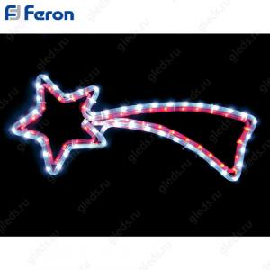 "Световая фигура ""комета"", 4м LED белый+красный, 24 LED/1м, 60*62см LT009"