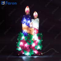 "Световая фигура ""3 свечи"", 20 LED (белый), 44*24*2 см LT031"