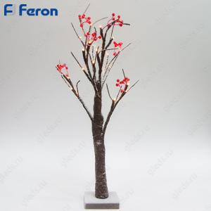 """Световая фигура """"Дерево с ягодами"""", 24 LED, 60см LT042"""