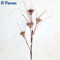 Ветка золотой цветок, 4LED, 62 см LD209B