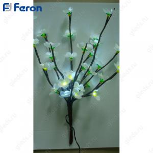 Ветка персика белая, 32LED, 39 см LD211B
