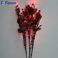 Ветка с ягодами и листьями 3 шт в промо-упаковке, 60LED, 60 см LD218B