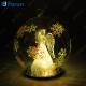 "Световая фигура стеклянная ""Шар с ангелом"" 1 LED, д.12 см LT051"