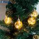 """Гирлянда """"шары стеклянные золотистые"""" 6 LED, 0.7 m+0.5 m CL110"""