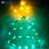 "Световая фигура из синтетической нити ""Ёлка"", 15 LED, 28*40 см LT052"