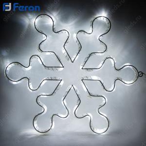 """Световая фигура из синтетической нити """"Снежинка"""", 15 LED, 33*33 см LT053"""