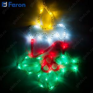 "Световая фигура из синтетической нити ""Свечи"", 15 LED, 31*41,5 см LT054"