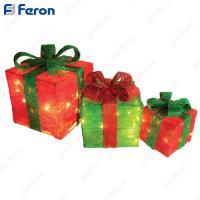 "Набор световых фигур ""Подарок"" (3шт) 45LED LT055"