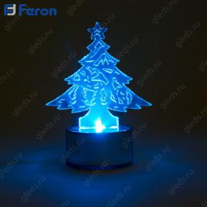 "Световая фигура ""Ёлочка пластиковая"", 1 LED, высота: 8 см LT059"