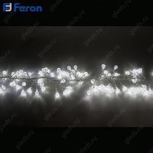 """Гирлянда """"Гроздь с насадками"""" 192 LED (белый 6400К), 1,4м + 1,5м CL60"""