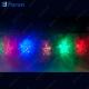 """Гирлянда """"12 разноцветных звезд"""", 120 LED (мультиколор), 3.1м+1,5м шнур CL107"""