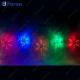 "Гирлянда ""13 разноцветных снежинок"", 120 LED (мультиколор), 3м+1,5м шнур CL108"