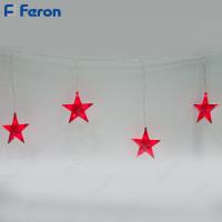 """Гирлянда """"Красные звезды"""" 100 LED (красный), 3м+1,5м шнур CL109"""