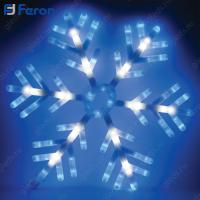 """Световая фигура """"снежинка 58*58 см"""", 142LED (мультиколор) 1,6м шнур LT035"""