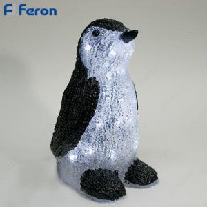 """Световая фигура акриловая """"Пингвин"""" 30 LED (белый 6500К), 17*13*27 см, 1,9м шнур LT040"""