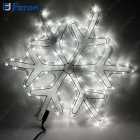 """Световая фигура """"снежинка"""" дюралайт 24 LED/м (белый) , 14м, 54*54см LT066"""