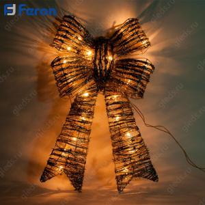"Световая фигура ""Бант"", 20 ламп накаливания, 38*7*62см, шнур 1,9м LT110"