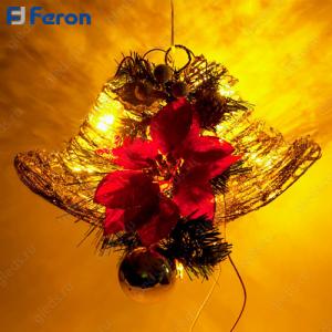 "Световая фигура ""Колокольчики"", 35 ламп накаливания, 44*26 см, шнур 1,9м LT112"