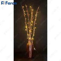 Ветка 2,5W 50 белых LED 2700к 230V 120см ветки, серебряный (красный шнур) LD206B-indoor