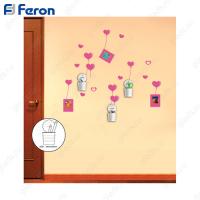 Наклейка на стену с аксессуарами (стаканчики) NL92