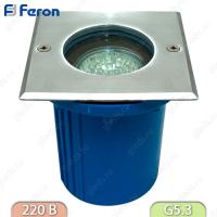 Тротуарный (Грунтовый) светильник 3733 18LED 230V JCDR G5.3 белый, квадрат