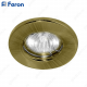Светильник встраиваемый DL10/DL3201 MR16 50W G5.3 античное золото/GAB