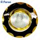 Светильник встраиваемый 703 MR16 50W G5.3 черный-золото/ Gun Metal-Gold