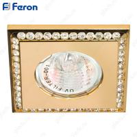 Светильник встраиваемый DL102-C MR16 MAX50W 12V G5.3 прозрачный, золото