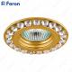 Светильник встраиваемый DL112-C MR16 MAX50W 12V G5.3 прозрачный, золото