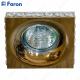 Светильник встраиваемый DL202-C MR16 MAX50W 12V G5.3 прозрачный, золото