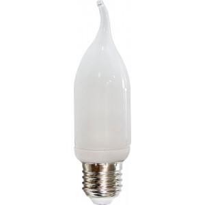 Лампа энергосберегающая ELC76 Свеча на ветру E14 11W 4000К