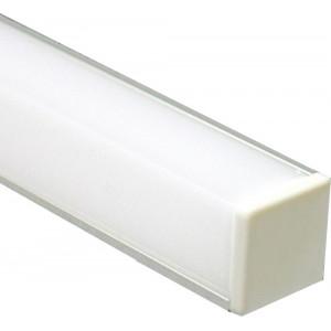 Профиль алюминиевый угловой квадратный, серебро, CAB281