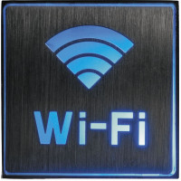 """Светильник аккумуляторный, 1 LED/1W 230V, AC """"Wi-fi"""" синий 110*110*20 mm, серебристый, EL51"""