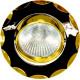 Светильник встраиваемый 703 потолочный MR16 G5.3 черный-золото