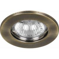Светильник встраиваемый DL10 потолочный MR16 G5.3 античное золото