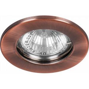 Светильник встраиваемый DL10 потолочный MR16 G5.3 античная медь