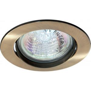 Светильник встраиваемый DL308 потолочный MR16 G5.3 античное золото