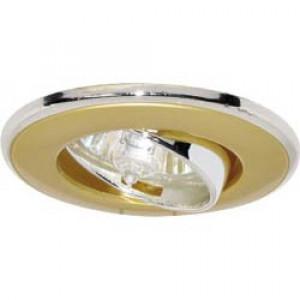 Светильник встраиваемый 301T-MR16 потолочный MR16 G5.3 титан-золото